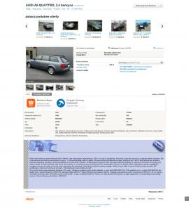 screenshot of http://allegro.pl/audi-a6-quattro-2-4-benzyna-i5120283181.html